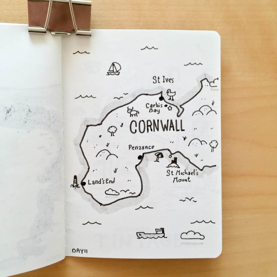 Carte de la Cornouaille
